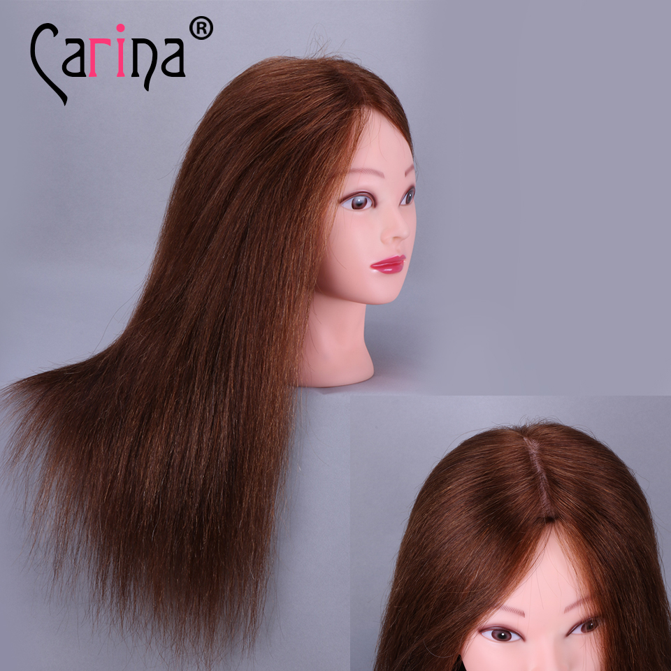 18 quot Hairdressing Head Mannequin Head For Hairstyle 100 Natural Human Hair Doll hairstyles Training Head Styling Cosmetology New in Mannequins from Home amp Garden