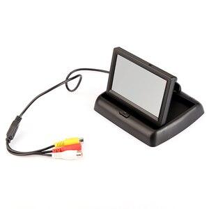 BYNCG 4,3-дюймовый TFT ЖК-монитор для автомобиля складной монитор дисплей обратная камера система парковки для автомобиля заднего вида Мониторы ...