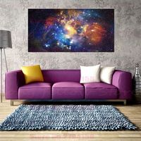 Abstract Artwork Milky Way Starry Sky Landscape Poster Wall Art Print Picture for Bathroom Lobby Home Decorations Drop Shipping