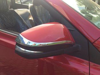 Хром зеркало заднего вида сбоку рельефная Накладка для отделки для Toyota RAV4 2013-2014