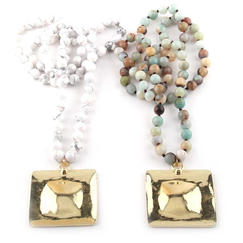 Модное богемное племенное ювелирное ожерелье с длинной металлической подвеской