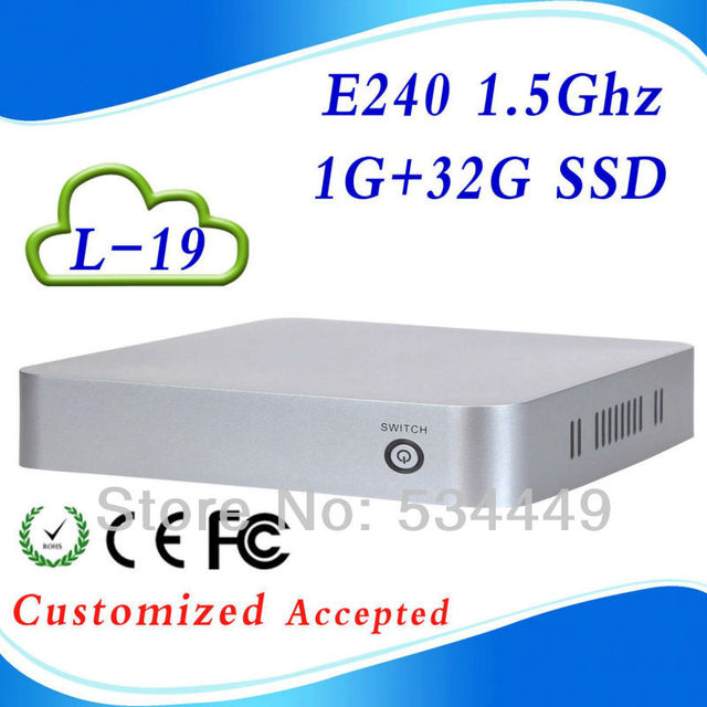 Cheapest E240 L-19 1G RAM 32G SSD pc station single board computer linux micro computer Support 1*HDMI 1.3