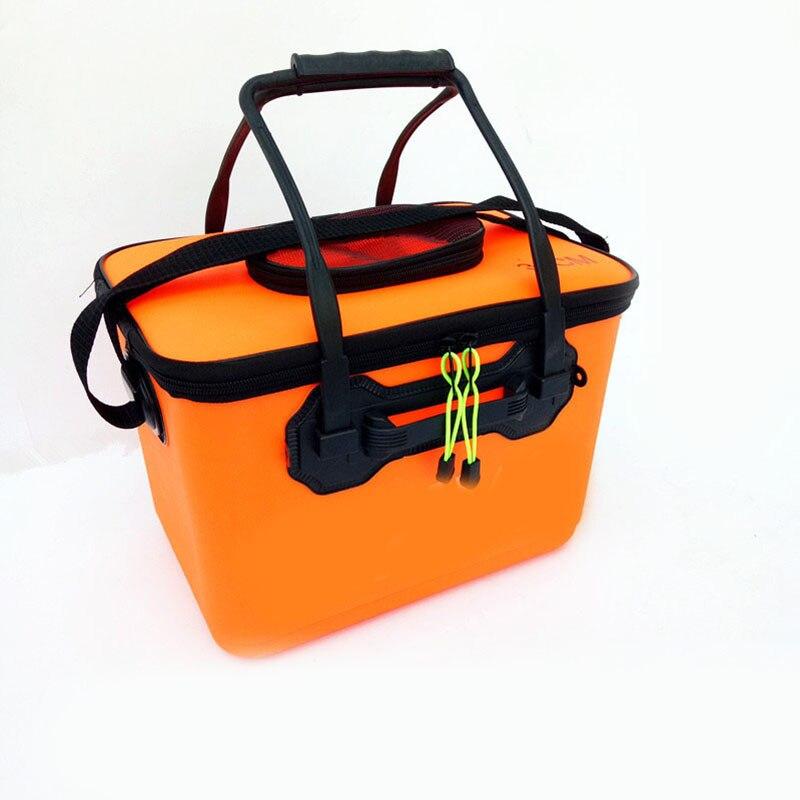 EVA Pliage Boîte De Pêche Étanche Seau sac D'eau de Poissons Reel Pouch sac Avec Poignée Canne À Pêche sac sac etanche peche