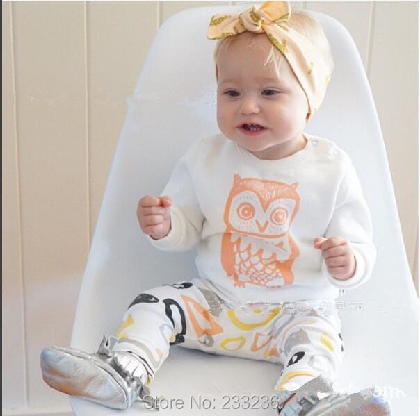 2017 retail baby girl clothes Cotton Long sleeve Beautiful