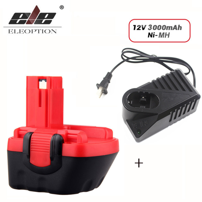 with charger 12V 3000mAh Ni MH Battery for Bosch 12V Drill GSR 12 VE 2 GSB