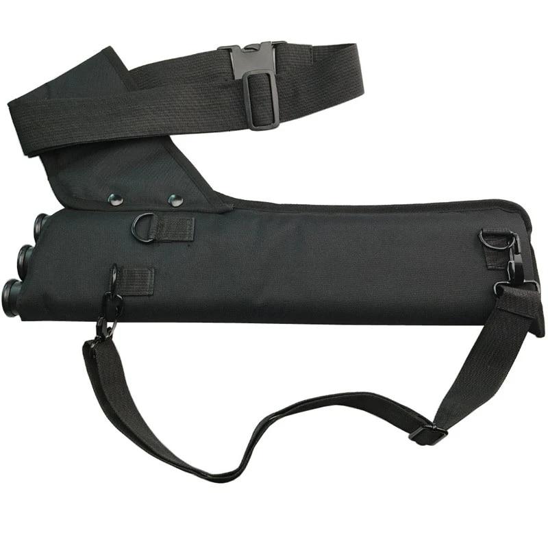 Arrow Holder Archery Accessory PVC Bag Shoulder Back Quiver Tube For Hunt Practi