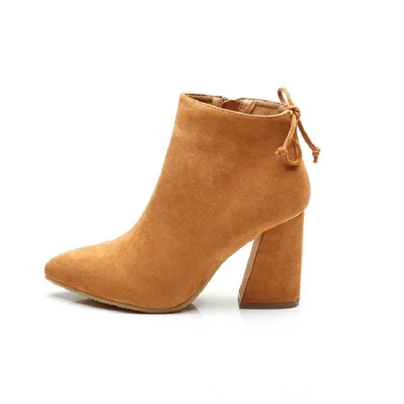 2018 autumn and winter pointed thick with foreign trade models high-heeled explosions cashmere womens boots orange 11212018 autumn and winter pointed thick with foreign trade models high-heeled explosions cashmere womens boots orange 1121