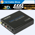 Premium S-video composite RCA AV to HDMI 4K converter Scaler True HD1080P supported with power