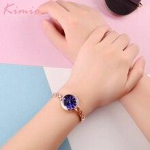 Kimio Small Dial Fashion Casual Women Watches Alloy Bracelet Wristwatches Quartz Clock Relogio Feminino Dress Girl Gift With Box