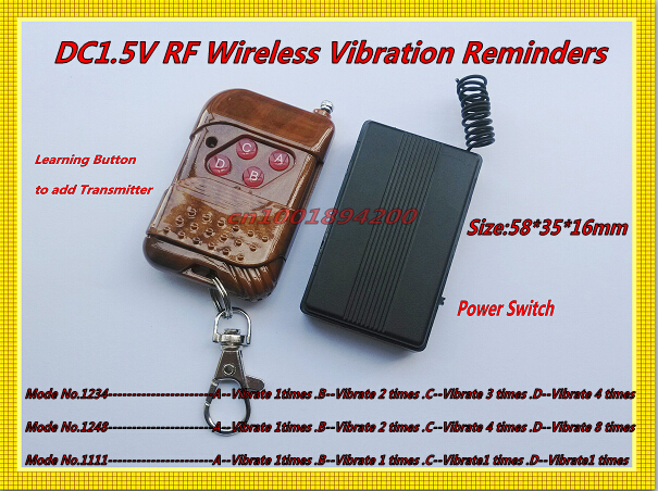 DC1.5V RF Wireless Vibrator Reminders Multiple Mode adjustable 4CH Vibrator Reminders 315/433 Learning  1CH 2CH 3CH 4CH 6CH 8CH цены онлайн