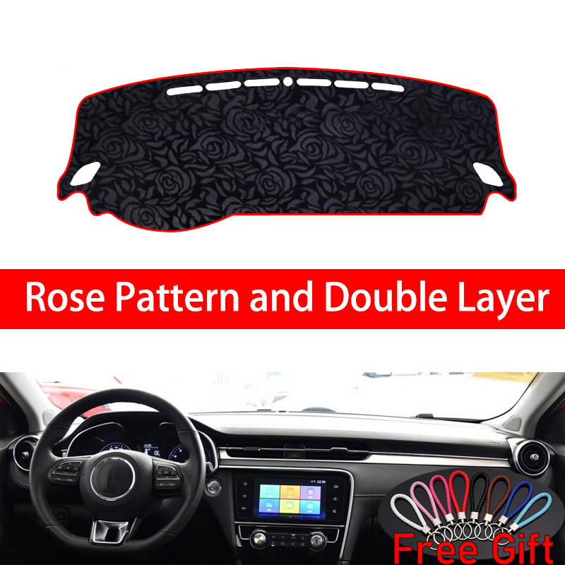 Rose Pattern For MG <font><b>MG6</b></font> EV 2017 2018 <font><b>2019</b></font> Dashboard Cover Car Stickers Car Decoration Car Accessories Interior Car Decals image