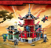 new 2019 Ninja Temple 810pcs DIY Building Block Sets educational Toys for Children Compatible legoingly ninjagoes