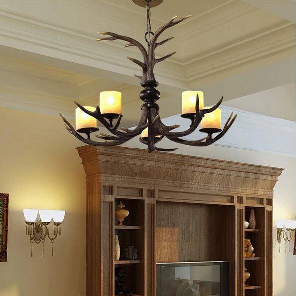 chandeliers suppliers 5 Antler Chandelier - SALE 110-220V free shipping