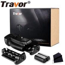 Support Vertical professionnel de paquet de poignée de batterie pour lappareil photo de Nikon D7100 D7200 comme MB D15 + batterie de EN EL15 de 1 pièces + tissu dobjectif de 2 pièces