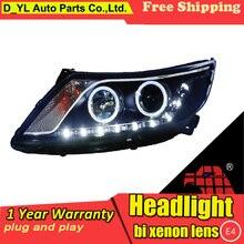 Автомобильный Стайлинг для Kia K2 фары 2011- K2 led фара светодиодный проектор DRL фар H7 Биксеноновая разрядная лампа высокой интенсивности для объектива