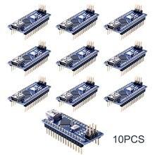 10pcs מיני ננו V3.0 Atmega328p 5v 16m מיקרו בקר לוח מודול לarduino