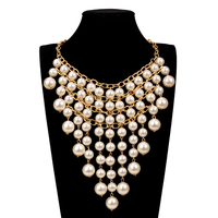 MOON GIRL 5 Color Simulated Oysters Pearls Necklace Fashion Trendy Jewelry Display 2017 Statement Choker Necklace