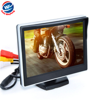 5 Digital Color TFT 16:9 LCD Car Reverse Monitor with 2 Bracket holder for Rearview Camera DVD VCR Multi language Russian
