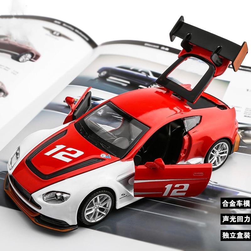 Aston Martin Race Car: 1:32 Metal Car Model Kids Toys Racing Car Aston Martin GT3