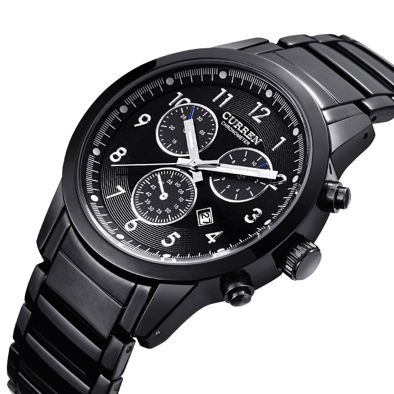 2017 New Business Style Men Stainless Steel Watch Top Brand Fashion Curren Men s Wristwatch Simple
