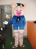 DR.PIG MASCOT COSTUME High quality Animal mascot customized carnival mascot costumes free ship
