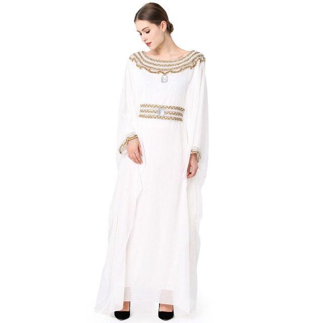 f87b0862a84d Diamonds artificial embroidery chiffon muslim girl dress dubai kaftan dress  turkish fashion abaya saudi arabia modern islamic