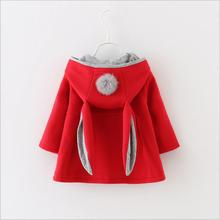 Autumn Winter Girls Jackets Kids Clothes 2016 New Fashion Children Clothing Baby Outerwear Hoody Winter Jackets for Girls F351