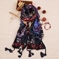 [Sour lemon] multifuncional macio morno xales e lenços de impressão estilo bohemian mulheres bufandas cachecol feminino cachecol-pingente