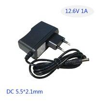 DC 12.6V 1A Smart Intelligent Lic Charger 18650 Li-ion LiPo Battery  5.5*2.1mm.AU/EU/UK/US plug available