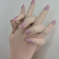 Luxury Customized Nails Service For Skin Zentai Gloves With Fake Nail Art