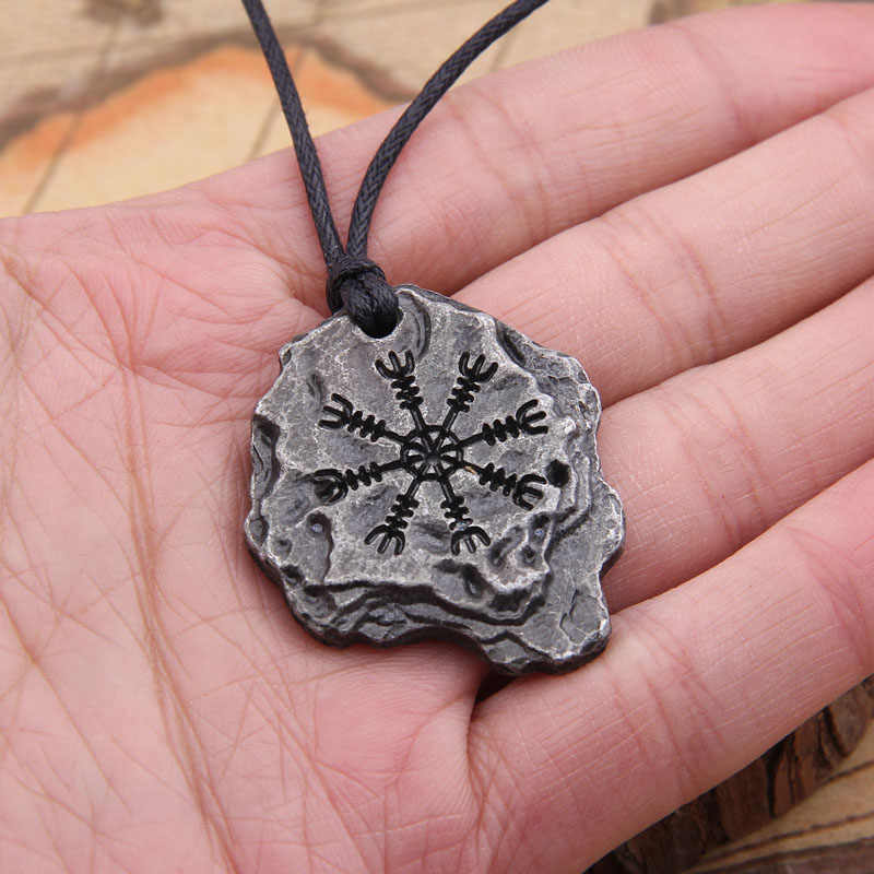 "dropshipping Viking ""Aegishjalmr"" or ""Helm of Awe"" Protection Rune Pendant Norse/Odin/North/Scandinavian/Medieval/Magic necklace"