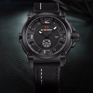 Image 3 - NAVIFORCE Herren Uhren Top Brand Luxus Sport Quarz Uhr Lederband Uhr Männer Wasserdichte Armbanduhr relogio masculino 9099