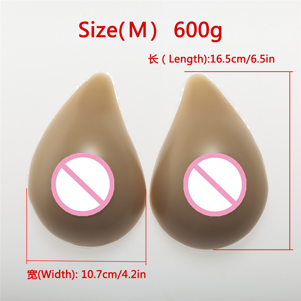 Buy Spiral Silicone Breast 600g/Pair Artificial Female Breast Crossdresser Breast Fake Boobs Transgender Shemale Breasts Forms