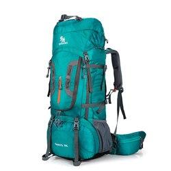 80L Camping mochilas senderismo grande al aire libre mochila bolsa de Nylon superligero deporte bolsa de viaje de aleación de aluminio de soporte 1,65 kg