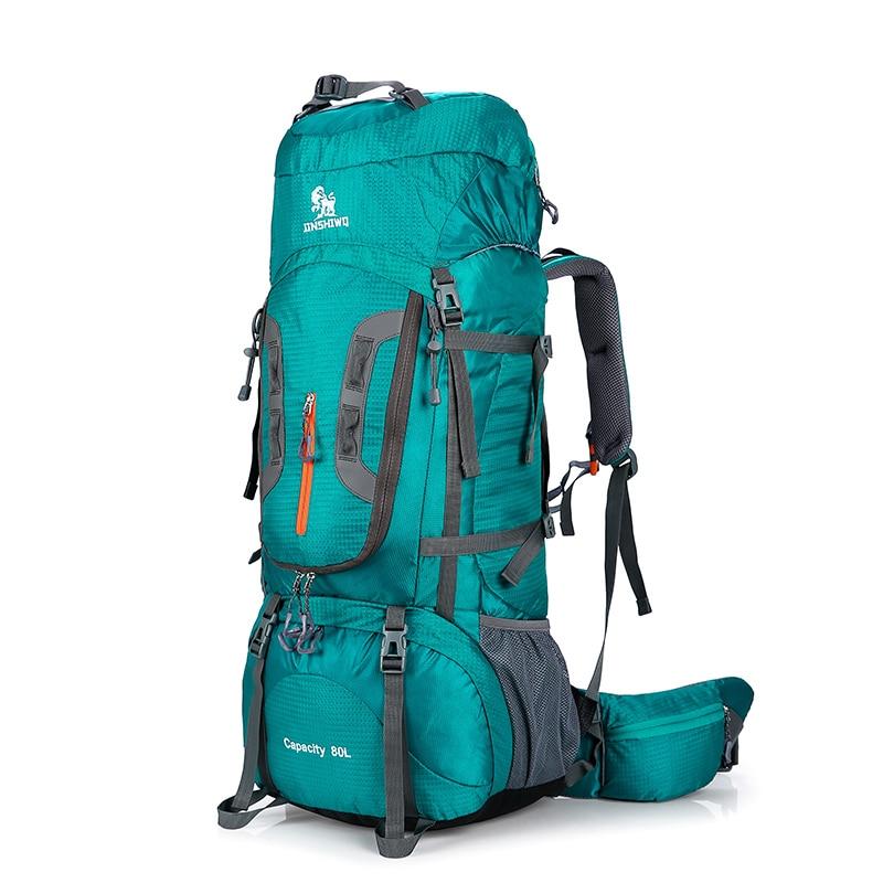 80L Camping senderismo mochilas Bolso grande al aire libre mochila Nylon superlight deporte viaje bolsa aleación de aluminio soporte 1,65 kg