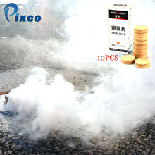 Pixco 10PCS Portable Smoke Pills Cake Performance White Smoke Effect Photography Prop Dropshipping wholesale Retail photography effects accessories mystic finger smoke prop finger s smoke fantasy magician trick accessories