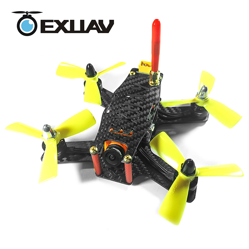 EXUAV 133 RC FPV Racing Drone 133MM Wheelbase 3.5mm Arms Carbon Fiber Frame Kit X Structure For DIY MIni Toys awesome q95 95mm wheelbase mini pure carbon fiber four axis aircraft frame kit for fpv racing drone