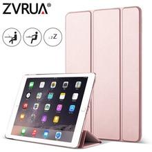 for iPad Mini 4 3 2 1 ZVRUA YiPPee Case Slim PU Leather Trifold Stand Auto Sleep/Wake up Smart Cover for mini1 mini2 mini3 mini4