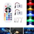 Atacado RGB-5050 6000 K Car Dome Luz Interior Luz Luz Compartimento 16 Cores Luzes Decorativas Com Controle Remoto Sem Fio