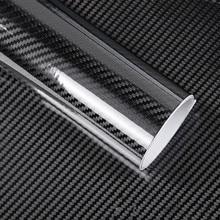 50*200 cm Negro 5D Película de Fibra de Carbono de Fibra de Carbono de Vinilo Película Del Abrigo Del Coche Etiqueta Engomada Del Coche Auto de la Película Exterior accesorios car styling