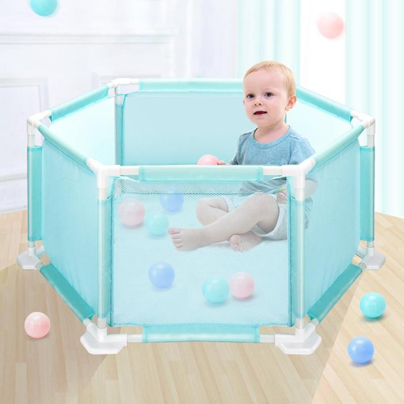 Portable Baby Ball Pool Safety Fence Playpen For Children Kid Folding  Security Barriers Baby Safety Fence Playpen Ten House Play