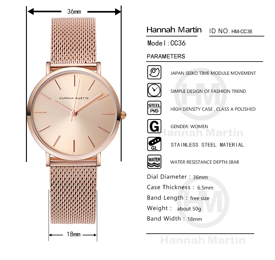 Women Full Rose Gold Ladies Watch Ladies watch