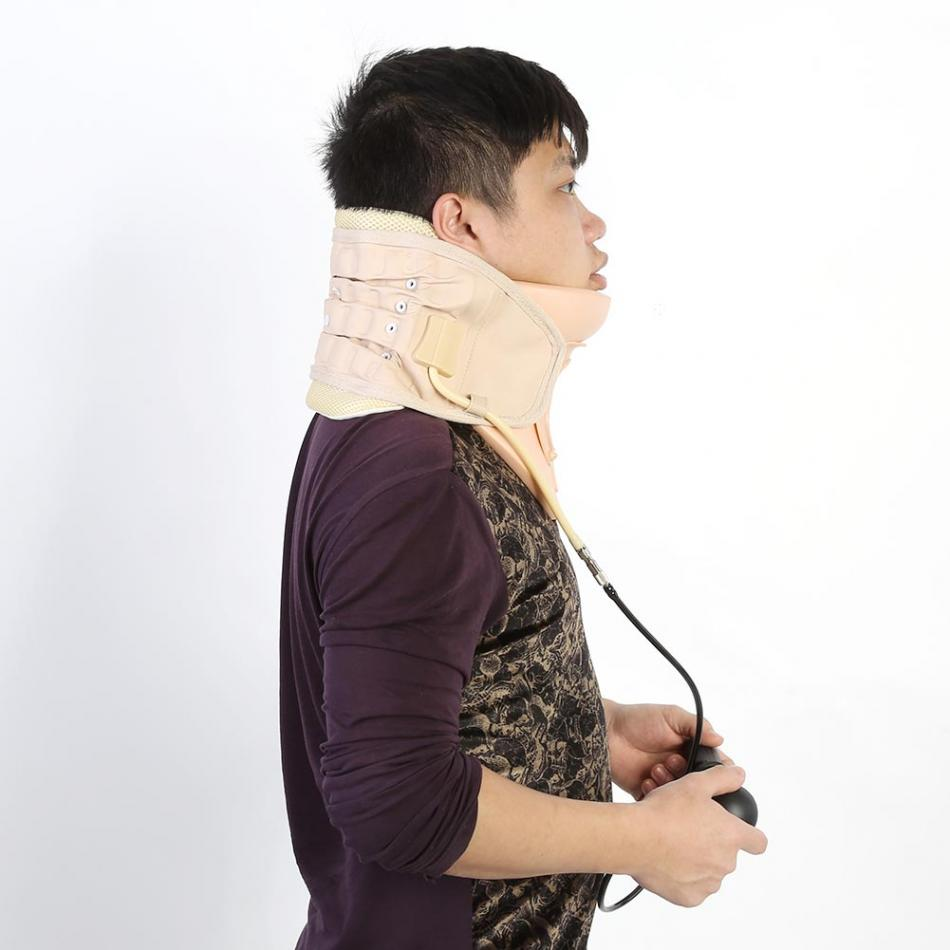 Neck Support Protector Household Cervical Collar Neck Brace Air Traction Therapy Device Relax Pain Relief Tool Health Care high end health care neck cervical traction ems therapy massage collar infrared heating magnet vibration massager pain relief
