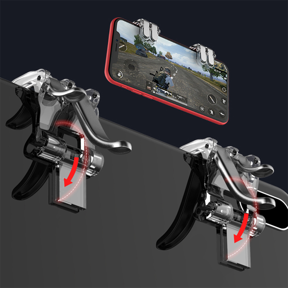 Gamepad Trigger Free Setting PUBG Mobile Control Joystick Gamer Android Sovawin 4-Click Metal Pubg Smart Phone Holder Six Finger
