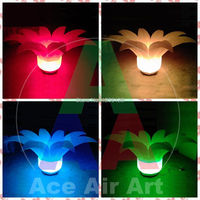 Colors Changing Inflatable Flower With RGB Lights
