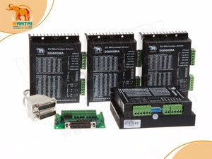 Image 3 - ¡CNC barato! Wantai Motor paso a paso Nema 34 de 4 ejes, WT86STH118 6004A 1232ozin + controlador DQ860MA 80V 7.8A 256, Micro fresadora CNC, corte de molienda