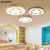 dome light circular boreal Europe style small bedroom of children room for boys and girls wooden lamps and lanterns