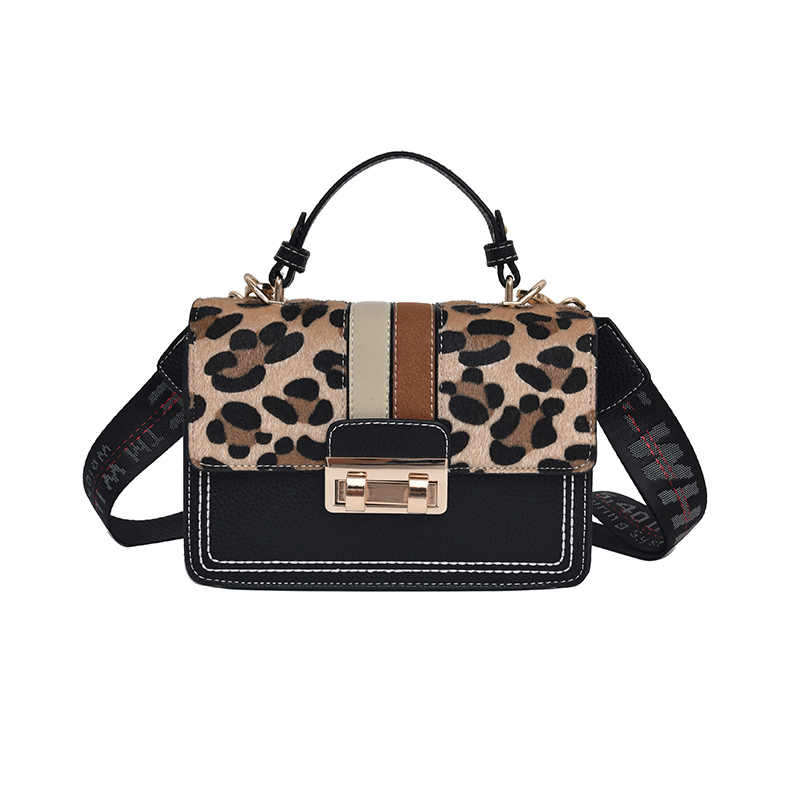 e32266a421 2018 Fashion Leopard Trendy Designer Chains Bag Female handbag Brand Luxury  Women Crossbody Messenger Shoulder Bags