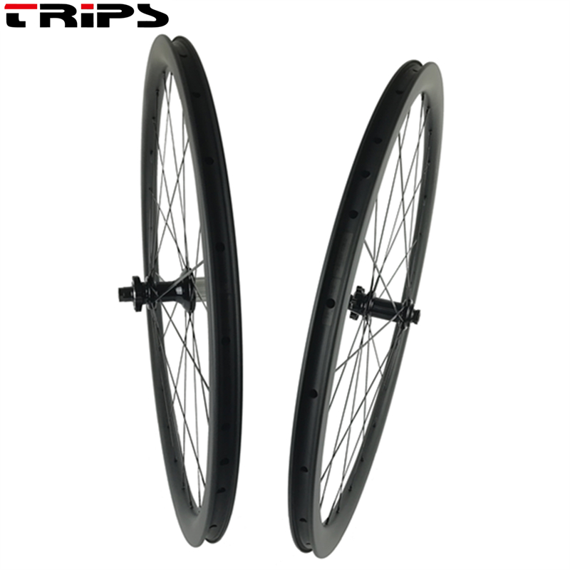 700C Road Disc Brake wheelset 38 50 60 88mm clincher Thru Axle 6 Bolt carbon road