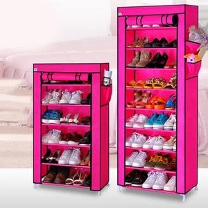 Image 4 - Actionclub หนาทอป้องกันฝุ่นตู้รองเท้า DIY Assembly เก็บรองเท้าชั้นวางรองเท้าชั้นวางของ 10 ชั้น 7 ชั้น